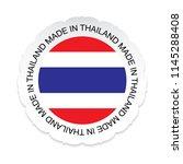 thailand flag .thailand... | Shutterstock . vector #1145288408