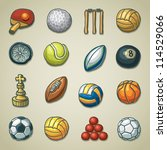 freehand icons   sports | Shutterstock .eps vector #114529066