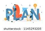 plan concept. idea of business... | Shutterstock .eps vector #1145293205