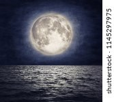 Full Moon Over Sea Surface Wit...