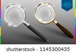 realistic vector magnifying... | Shutterstock .eps vector #1145300435