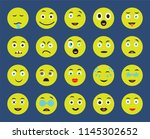 set of 20 icons such as happy ... | Shutterstock .eps vector #1145302652