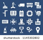 set of 20 icons such as light...