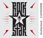 rock star   music poster with... | Shutterstock .eps vector #1145304008