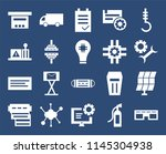set of 20 icons such as glasses ...
