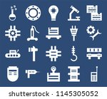 set of 20 icons such as walkie...