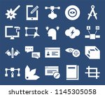 set of 20 icons such as crop ...