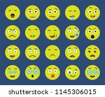 set of 20 icons such as nerd ... | Shutterstock .eps vector #1145306015