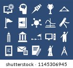 set of 20 simple editable icons ... | Shutterstock .eps vector #1145306945