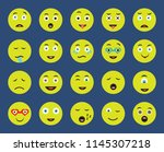 set of 20 icons such as... | Shutterstock .eps vector #1145307218