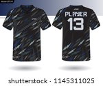 sports jersey template for team ... | Shutterstock .eps vector #1145311025
