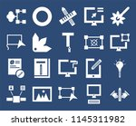 set of 20 icons such as drawing ...