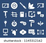 set of 20 icons such as graphic ...