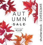 big autumn sale. fall sale... | Shutterstock .eps vector #1145312645