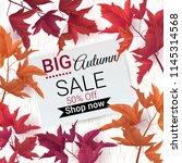 big autumn sale. fall sale... | Shutterstock .eps vector #1145314568