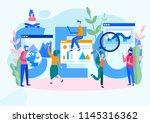 concept seo  market research... | Shutterstock .eps vector #1145316362