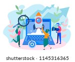 concept seo  market research...   Shutterstock .eps vector #1145316365