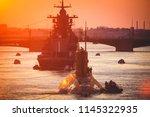 a line of modern russian... | Shutterstock . vector #1145322935