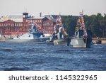 a line of modern russian... | Shutterstock . vector #1145322965
