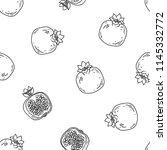 fruits vector seamless pattern. ...   Shutterstock .eps vector #1145332772