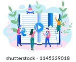 concept professional training ... | Shutterstock .eps vector #1145339018