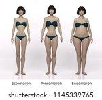 3d rendering   standing female...   Shutterstock . vector #1145339765