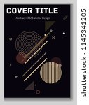 cover layout  black design.... | Shutterstock .eps vector #1145341205