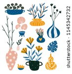 isolated home decor elements in ... | Shutterstock .eps vector #1145342732