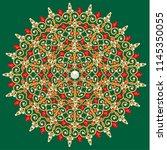 mandala brooch jewelry  design... | Shutterstock .eps vector #1145350055