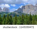 plattkofel and langkofel... | Shutterstock . vector #1145350472