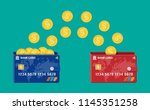 bank plastic card to card money ... | Shutterstock .eps vector #1145351258