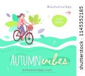 vector template of autumn sale...   Shutterstock .eps vector #1145352185