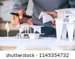architect design working... | Shutterstock . vector #1145354732