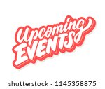 upcoming events. vector... | Shutterstock .eps vector #1145358875