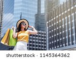 asian attractive smile... | Shutterstock . vector #1145364362