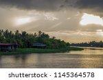 beautiful sun beams and sky... | Shutterstock . vector #1145364578