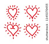 hand draw hearts icon design | Shutterstock .eps vector #1145370455