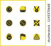 activity icons set with medal...