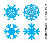 snowflake blue icons isolated... | Shutterstock .eps vector #1145375075