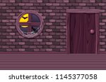 purple vector house cellar ... | Shutterstock .eps vector #1145377058
