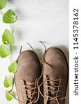 close up vintage leather shoes... | Shutterstock . vector #1145378162