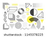 graphic vector yellow... | Shutterstock .eps vector #1145378225