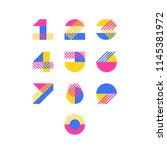 Vector Numerals. Set Of Simple...