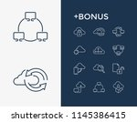 network icon set and data... | Shutterstock .eps vector #1145386415