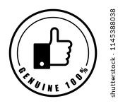 100  genuine text and like... | Shutterstock .eps vector #1145388038