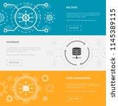 big data 3 horizontal webpage... | Shutterstock .eps vector #1145389115