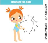 connect the dots children... | Shutterstock .eps vector #1145389325