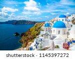 greece santorini island | Shutterstock . vector #1145397272