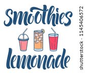 smoothies and lemonade... | Shutterstock .eps vector #1145406572