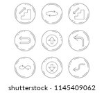arrows icons. download  repeat... | Shutterstock .eps vector #1145409062